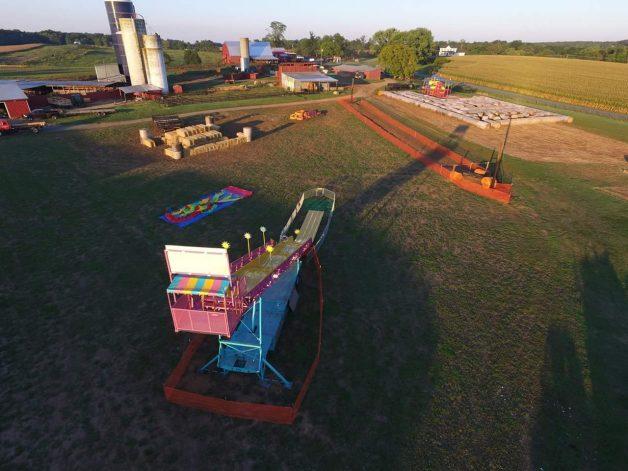 100 Ft. Super Slide Aerial
